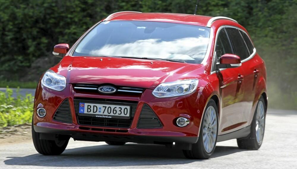 FAVORITTEN: Nye Ford Focus er vår favoritt i kompaktklassen. Det gjelder også stasjonsvognen.