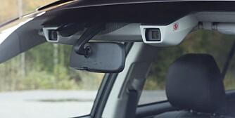 ØYNE: Outback får EyeSight som standard. EyeSight er navnet på Subarus førerassistentsystem, der to fargekameraer bearbeider stereobilder og gjenkjenner alt fra kjøretøy, fotgjengere, syklister til andre hindringer i kjørebanen. Systemet bremser også bilen om nødvendig.