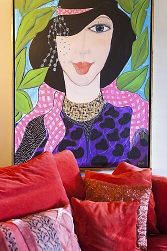 KUNSTELSKER: Lilli er glad i kunst. Dette blidet av den norske kunstneren Britt Boutros-Ghali, som er bosatt i Egypt, er en av favorittene.