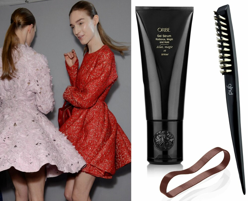 STRAM HESTEHALE: Oribe Gel Sérum Radiance, Magic and Hold, kr 528. Blax hårstrikk, kr 89 for 8 stk. GHD Narrow Dressing Brush, kr 178.
