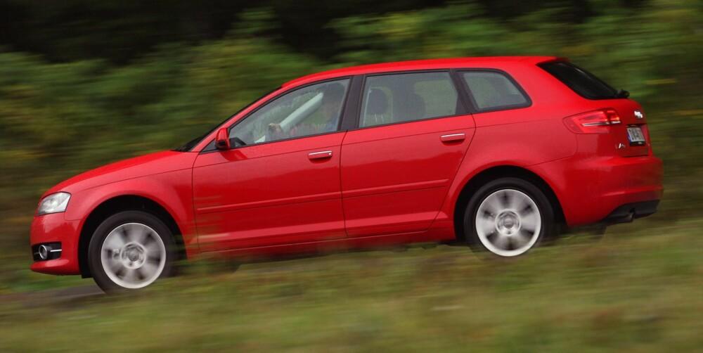 TRYGT VALG: Kompaktbilen Audi A3 har færrest feil i sin bilklasse. Her en 2010-modell. FOTO: Egil Nordlien, HM Foto