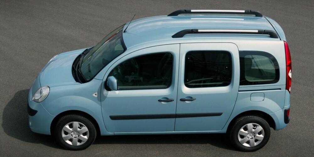 DÅRLIG: Eldre Renault Kangoo er nok en praktisk bil, men den kjennetegnes ikke av kvalitet, ifølge TÜV-statistikken. FOTO: Produsent