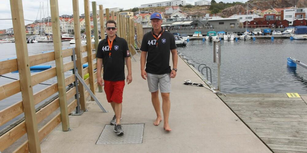 PREDATOR-GRÜNDERE: Preben Sørensen (t.h.) og Andree Bakkegaard startet med å bygge båt på hobbybasis, men det ble snart business.