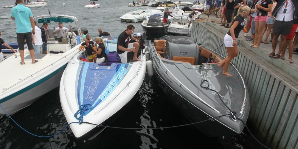 ROVDYRENE: De to Predator-båtene samlet i havn på Malmön.