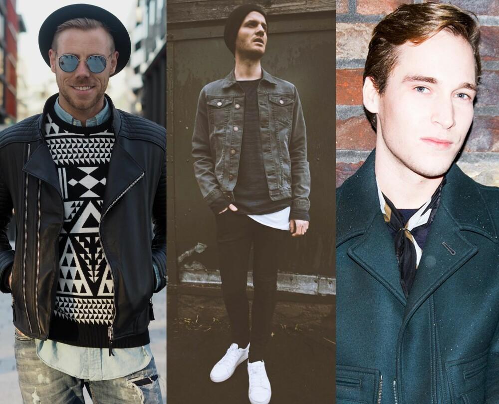NETTSHOPPERNE: Både Espen Hilton, Frank Ragnarsson og Fredrik de Lange benytter seg mye av nettbutikker når de er på jakt etter et nytt plagg eller to.