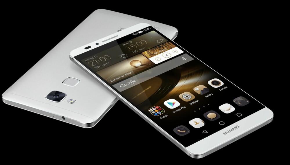 SLANK: Til å være en såpass stor mobil som Ascend Mate7 er, så er den slank. Den er bare 7,9 mm tykk.