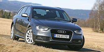 DER BESTE: Audi A4 er den beste bilen uansett klasse, ifølge det tyske kontrollorganet Dekra. FOTO: Petter Handeland