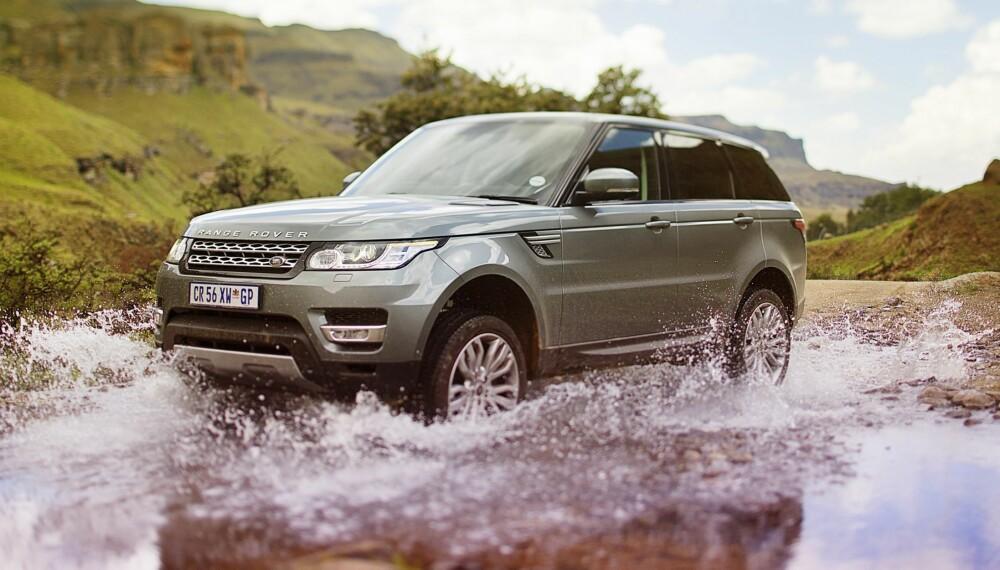 RANGIE: Forgjengeren til nye Range Rover Sport fikk sementert et rykte som en børstraktor. Men den nye modellen kan mye mer enn å frakte fiffen til nærmest spesialforretning. FOTO: Lee Brimble