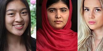 ILDSJELER: Fra venstre: Tavi Gevinson, Cassandra Lin, Malala Yousafzai og Anniken Jørgensen har forandret verden gjennom pågangsmot og drivende engasjement.