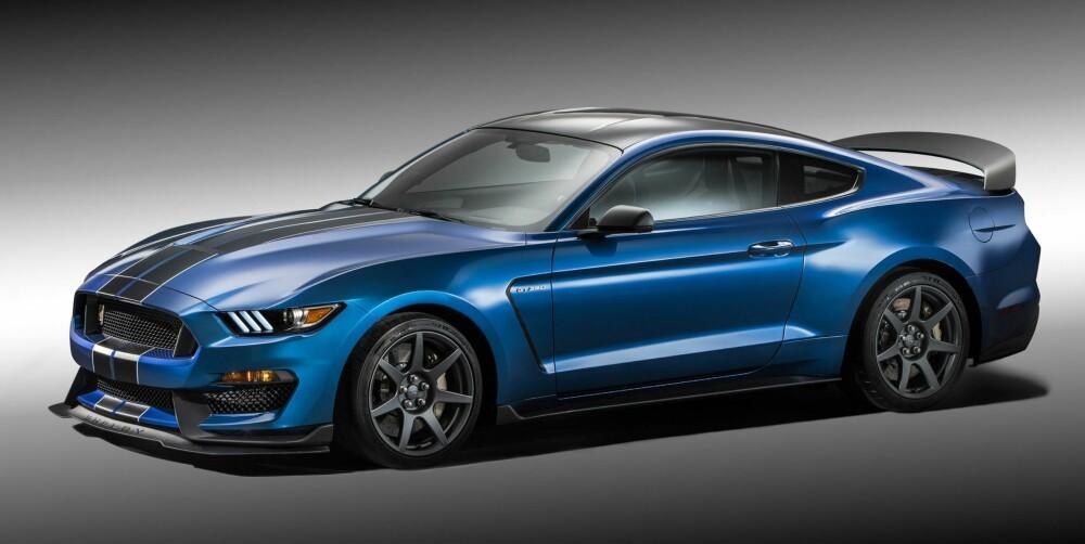 GT350R: Dette blir heller ingen sinke: Shelby GT350R - med 5,2-liters V8-er på over 500 hk. FOTO: Ford