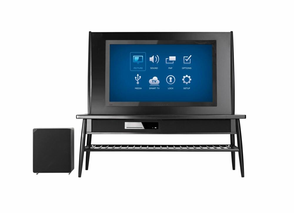 UPPLEVA: Ikea har sitt eget system som både inkluderer TV-er og lydanlegg.