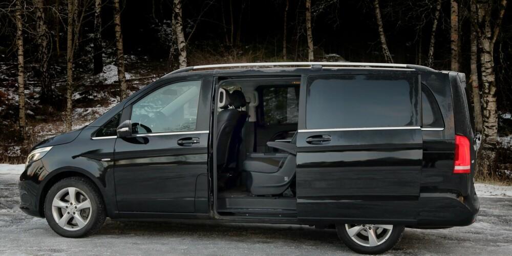 Skyvedør: Det gir enklere adkomst til passasjeravdelingen, og kan også leveres med elektrisk åpning/lukking, som på vår testbil.