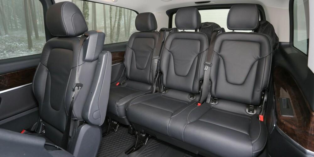 Topp komfort: Også på bakerste seterad har passasjerene det fint.