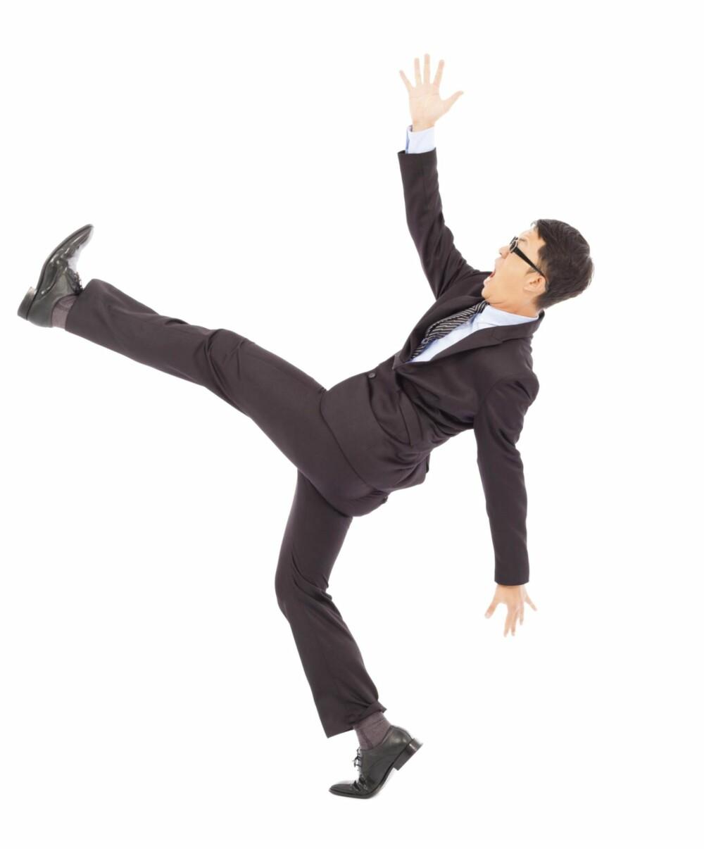MATCH MED BUKSA: Sokkene skal matche buksene, ikke skoene. Da virker beina lengre, antrekket får en bedre flyt og sokkene lyser ikke opp hvis du plutselig tar av deg skoene.
