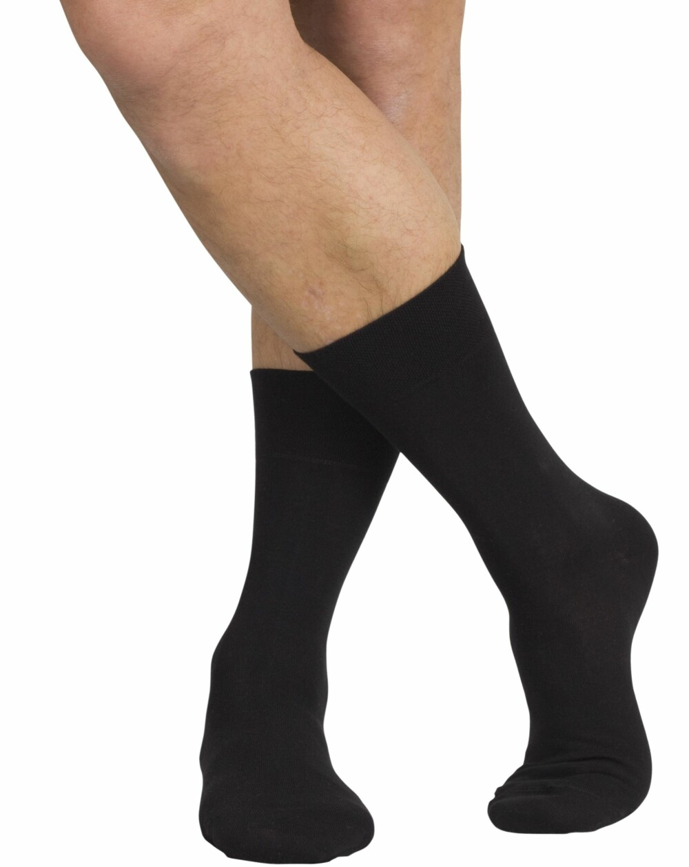 PERFEKT LENGDE: Sokker som dekker hårete legger er den perfekte lengden, ifølge ekspertene.
