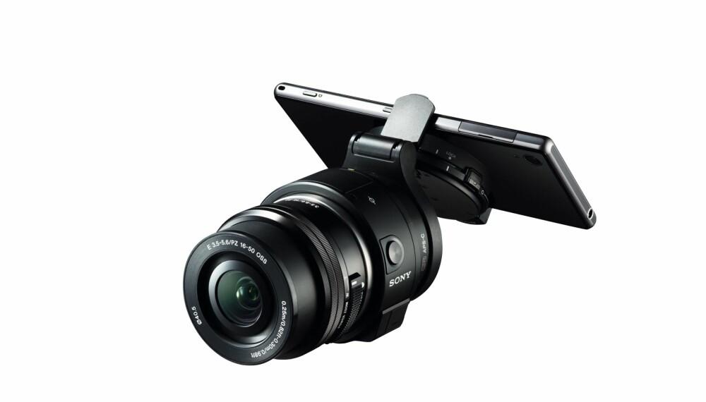 MOBILFOTO: Sony QX1 gjør mobilen om til et systemkamera og kan klipses på en hvilken som helst Android eller iPhone.