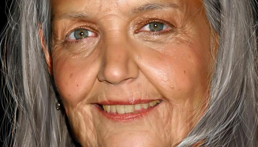 KATIE HOLMES: Tror du Katie Holmes vil se slik ut når hun blir eldre? Antakelig ikke, likevel er det et utrolig festlig manipulert bilde av henne. Dette er fra en Photoshop-konkurranse der deltakerne skulle sende inn bilder av kjendiser manipulert til å se gamle ut. Katie ble seende slik ut.