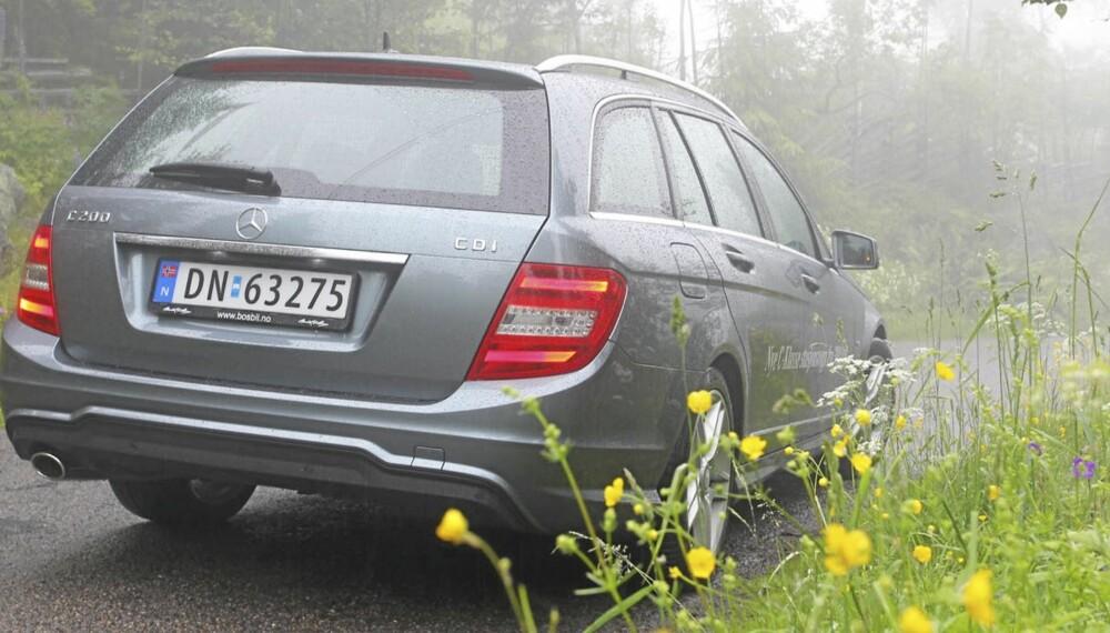 BRA VALG: Mercedes C 200 CDI i stasjonsvognsutgave viser seg som en flott familiebil i prestisjeklassen.