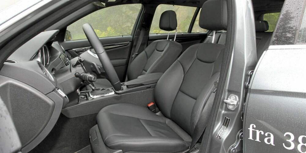 GOD STØTTE: Sportssetene i AMG utstyrspakke er ikke av de mest ekstreme, men sørger for svært god sittekomfort.
