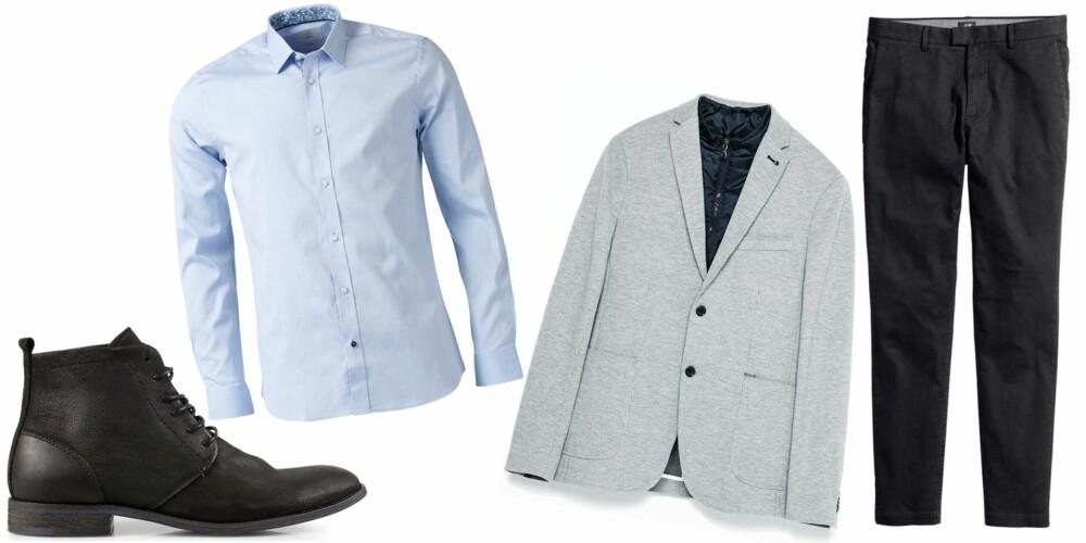 UT PÅ BYEN: Det er definitivt lov å pynte seg når man skal ut og sjekke damer. Dra frem skjorten, blazeren og du er good to go!