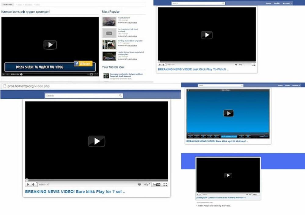 IKKE KLIKK: Vær forsiktig om du må laste ned eller følge en lenke for å se en video på Facebook.
