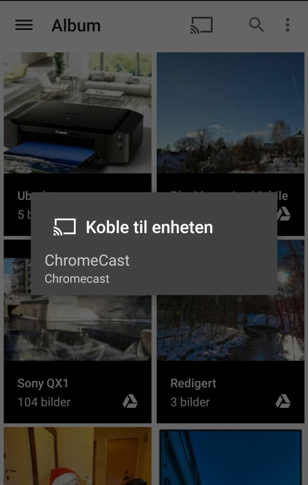 BILDEVISNING: Det finnes mange apper som lar deg caste bilder og videoer som er lagret lokalt på mobilen over.