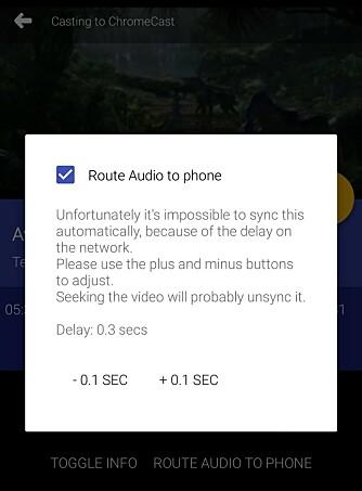 HODETELEFONER: Med appen LocalCast kan du bruke mobilen som hodetelefon mens du sender videobildet til Chromecast.