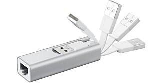 RUTER: Med en portabel trådløs ruter, som for eksempel Asus WL-330NUL, kan du bruke Chromecast på hotelrommet.
