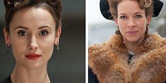 «TUNGTVANN»-KVINNENE:  Kostymedesigner Karen Fabritius Gram har stylet alle kvinnene i NRK-serien. Fra venstre: Tyske Peri Baumeister, danske Maibritt Saerens og britiske Anna Friel.