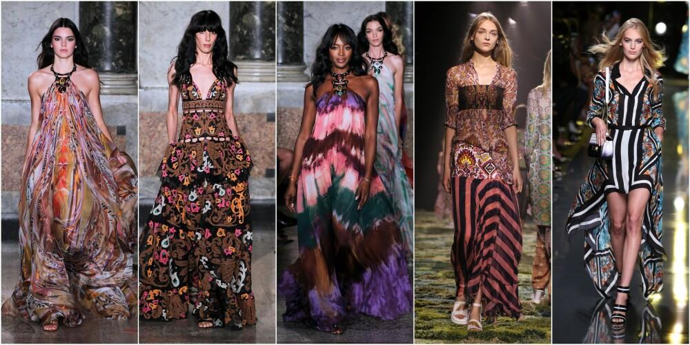 BOHEMSK AFTEN: Lange, romantiske og florlette maxikjoler er årets fineste kjole.