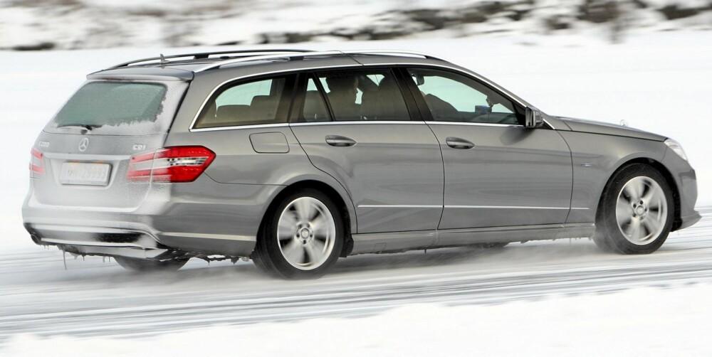 BEST AV ALLE: Beste bil uansett klasse, er Mercedes E-klasse. FOTO: Egil Nordlien