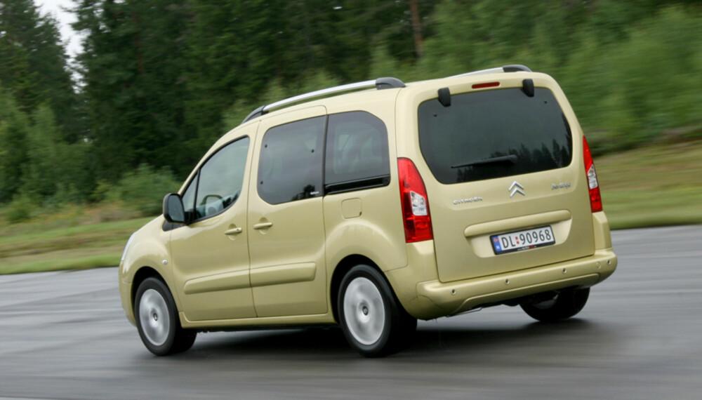 SCORER BRA: Citroën Berlingo scorer svært bra i sin klasse, ifølge den ferske kvalitetsrapporten fra den tyske kontrollinstansen Dekra. FOTO: Vi Menn Bil TopGear