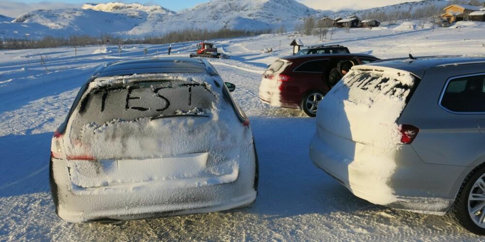 BILTEST: Alle bilene har styrker, og noen svakheter. FOTO: Martin Jansen