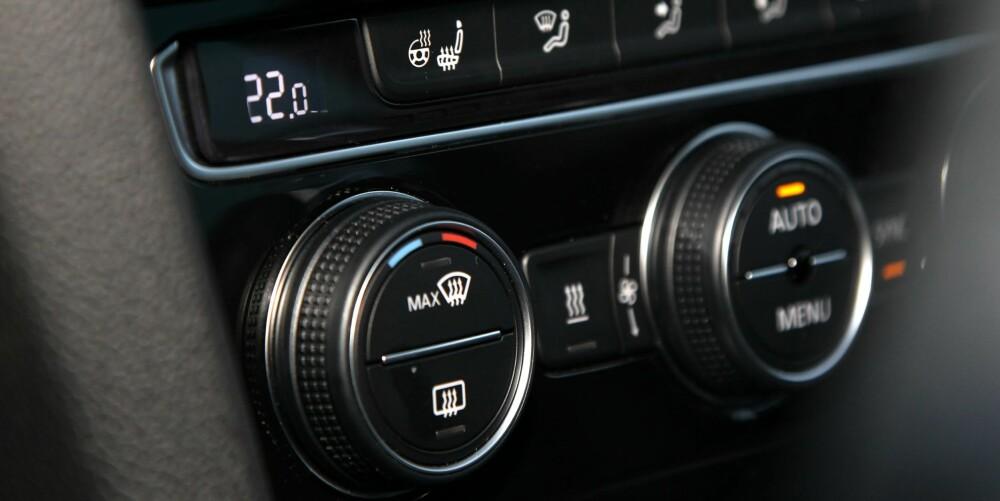 THE HEAT IS ON: Vi sjekket hvilken av bilene som ble raskest varm. FOTO: Petter Handeland