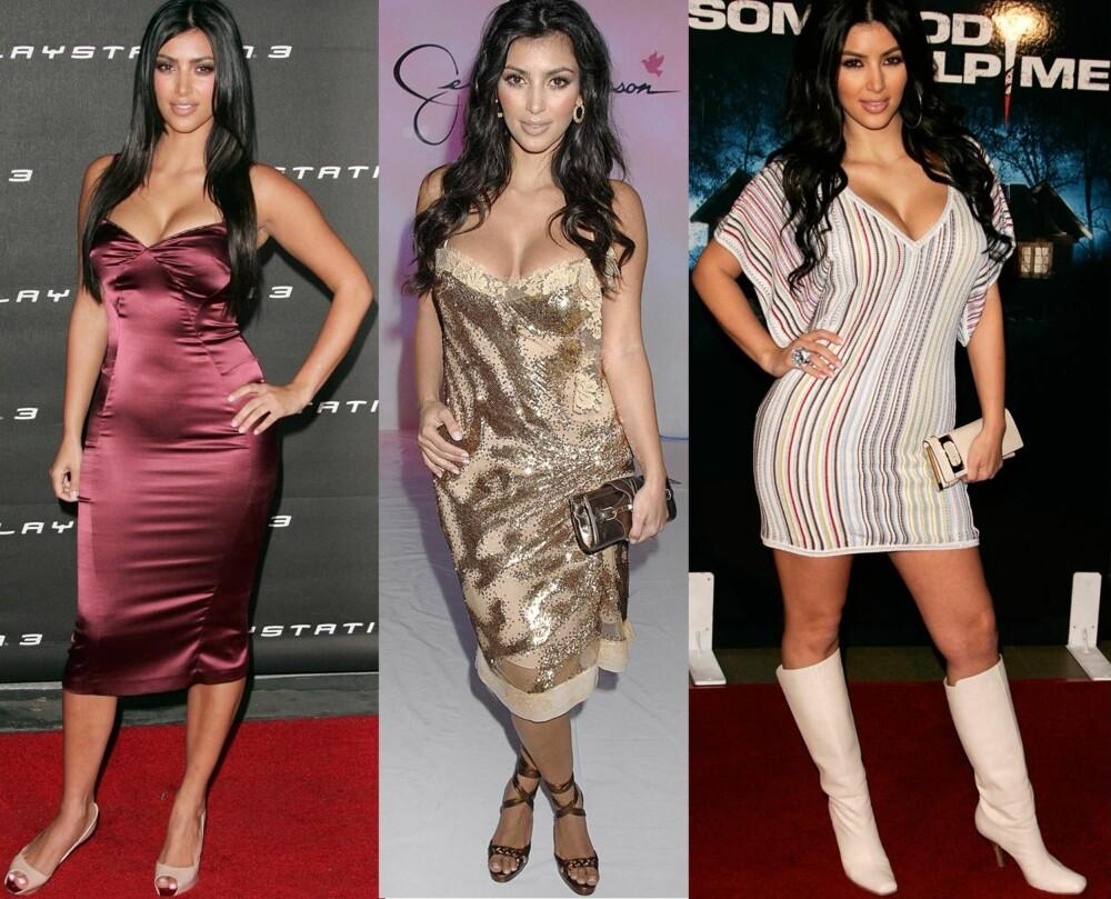2006 - 2007: Stylistene beskriver stilen til Kim Kardashian som fargerik, tacky, oppmerksomhetssøkende, billig, usikker. - Hun hadde aldri blitt en motepersonlighet med den stilen, sier stylist Alexandra Sætran.