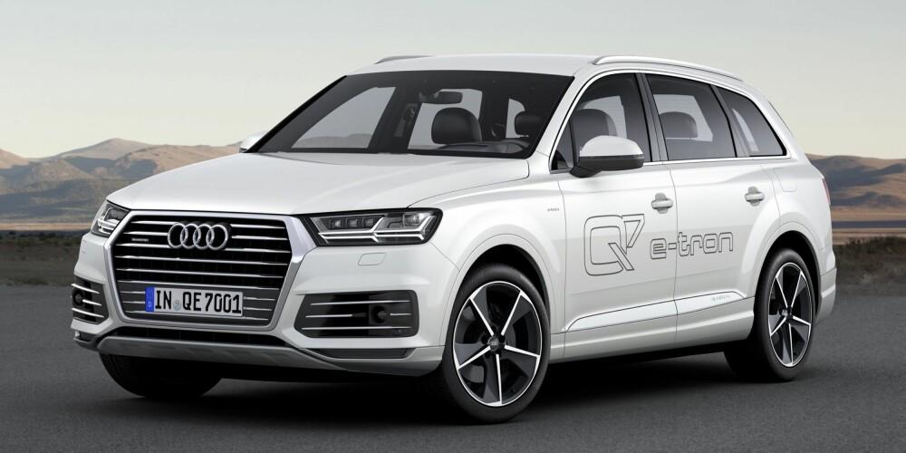 PLUG IN: Audi Q7 e-tron quattro kommer tidlig neste år. FOTO: Audi