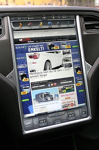 SUPER: Denne skjermen får de fleste andre dashbord til å virke gammeldagse.
