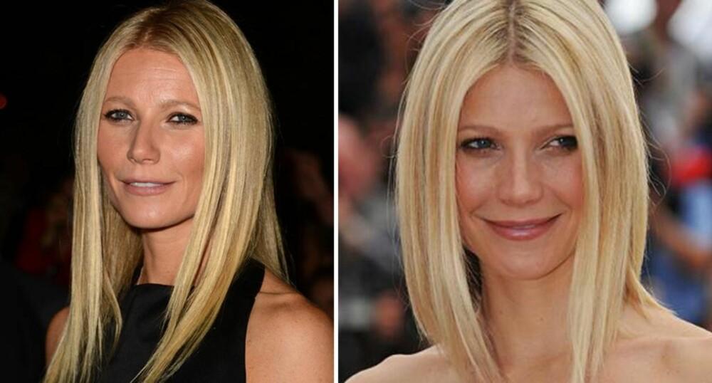 MER SPENNENDE: Gwyneth Paltrow ser både yngre og kulere ut med den litt mer oppklipte frisyren til høyre.