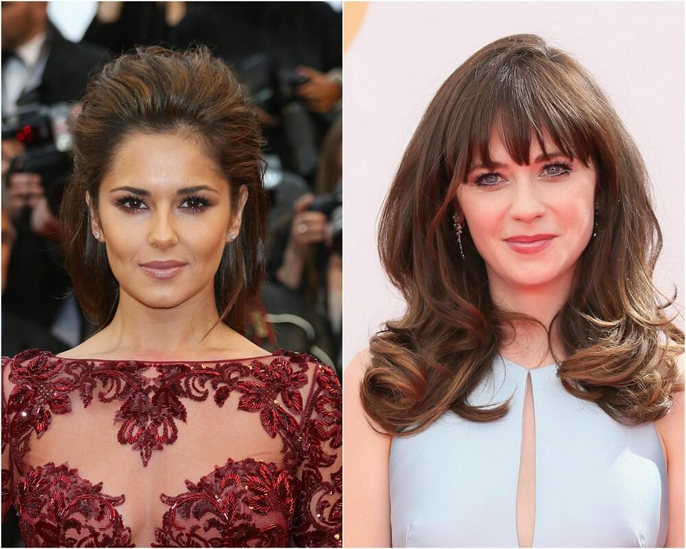 VARM OG KALD: Britiske Cheryl Cole (til venstre) har en klassisk varm hudtone, og er derfor ekstra fin i varme toner som for eksempel burgunder. Zooey Deschanel har en kald hudtone, og er ekstra fin med kalde farger som for eksempel blå og sterke, klare toner.