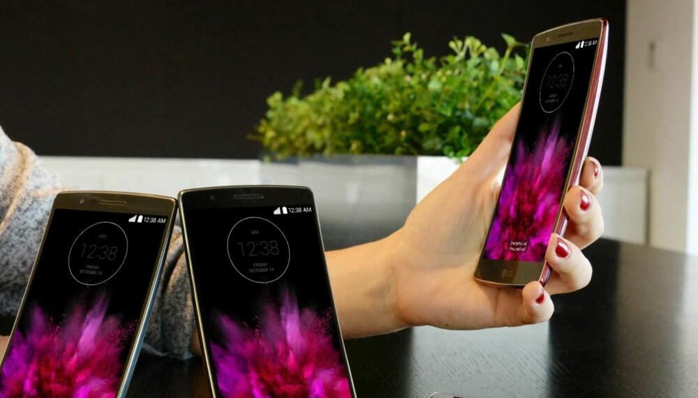 PLAST: LG G Flex 2 har et pent utseende, men plastkroppen greier ikke helt å utkonkurrere modellene i glass og metall.