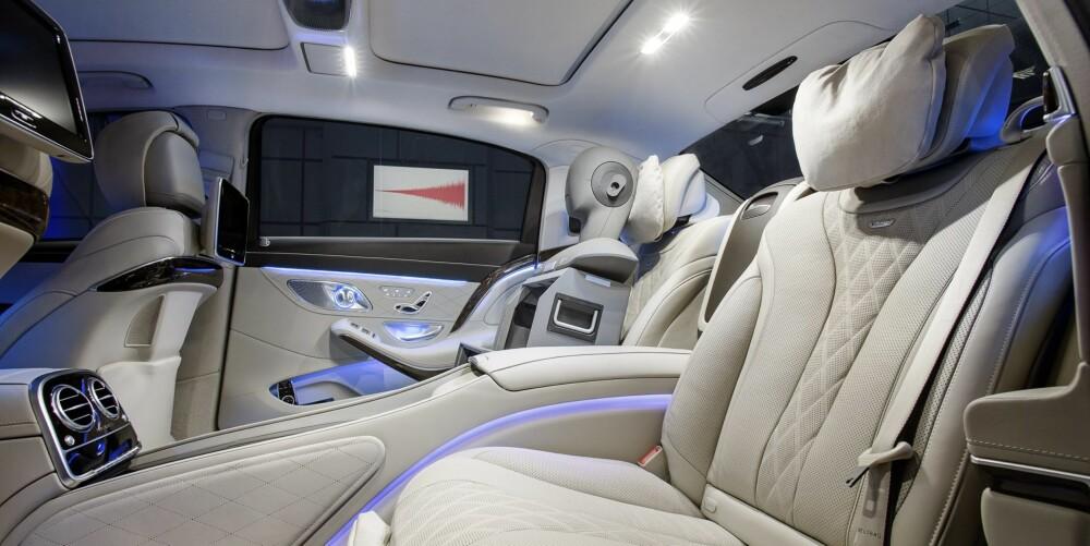 MERCEDES: Mercedes kan også manipulere atmosfæren i kupeen med et ioniserende Air Balance-system. FOTO: Produsent