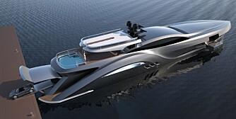 LAUNCH-SYSTEM: Et smart system sørger for at sportsbilen raskt forflytter seg mellom båt og kai. Foto: Ned Ship Group