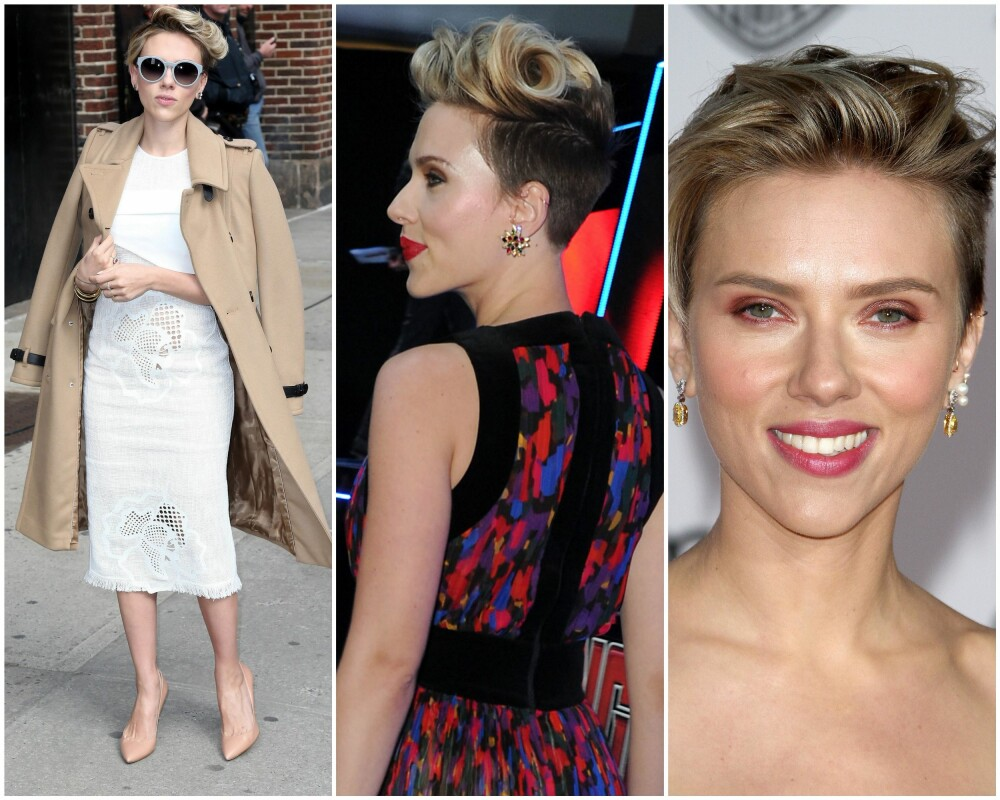 KJENDIS-TREND: Hollywood har lagt sin elsk på de korte frisyrene om dagen, og den nybakte moren, Scarlett Johansson, er en av de siste til å hive seg på den moderne, og praktiske looken.