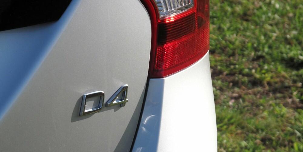 NY OG STERKERE: Nye D4 blir 18 hestekrefter sterkere enn dagens femsylindrede tolitersdiesel. Nye D4 yter 181 hk og 400 Newtonmeter og skal i følge Volvo nøye seg med 0,38 l/mil i S60/V60 med manuelt gir.