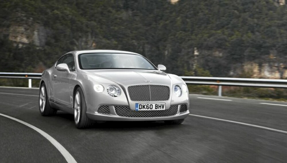 MER SPORTY: Bentley Continental GT blir enda litt friskere. FOTO: Bentley