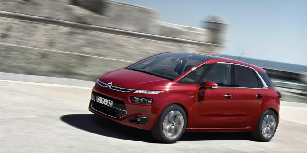 HØY KOMFORT: C4 Picasso er mer en komfortabel enn en dynamisk kjøreopplevelse. FOTO: Citroën