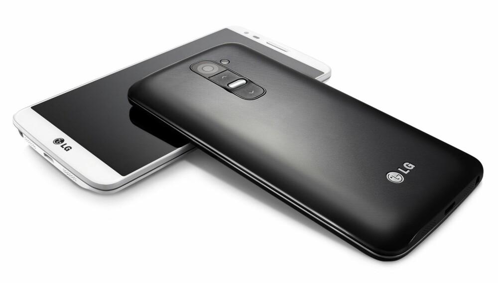 TOPPMODELL: G2 er LGs nyeste toppmodell, og skiller seg ut ved å kun ha knapper på baksiden.