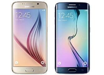 FLAGGSKIP: Galaxy S6 Edge og Galaxy S6 er Samsungs nye flaggskipmobiler. Det er dønn like, bortsett fra utseendet.