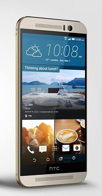 HØYOPPLØST: HTC One M9 har et kamera med hele 20 megapikslers oppløsning.