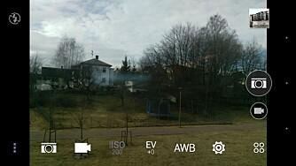 KAMERAAPP: HTC One M9 sin kameraapp lar deg stille det meste manuelt, også lukkertiden.